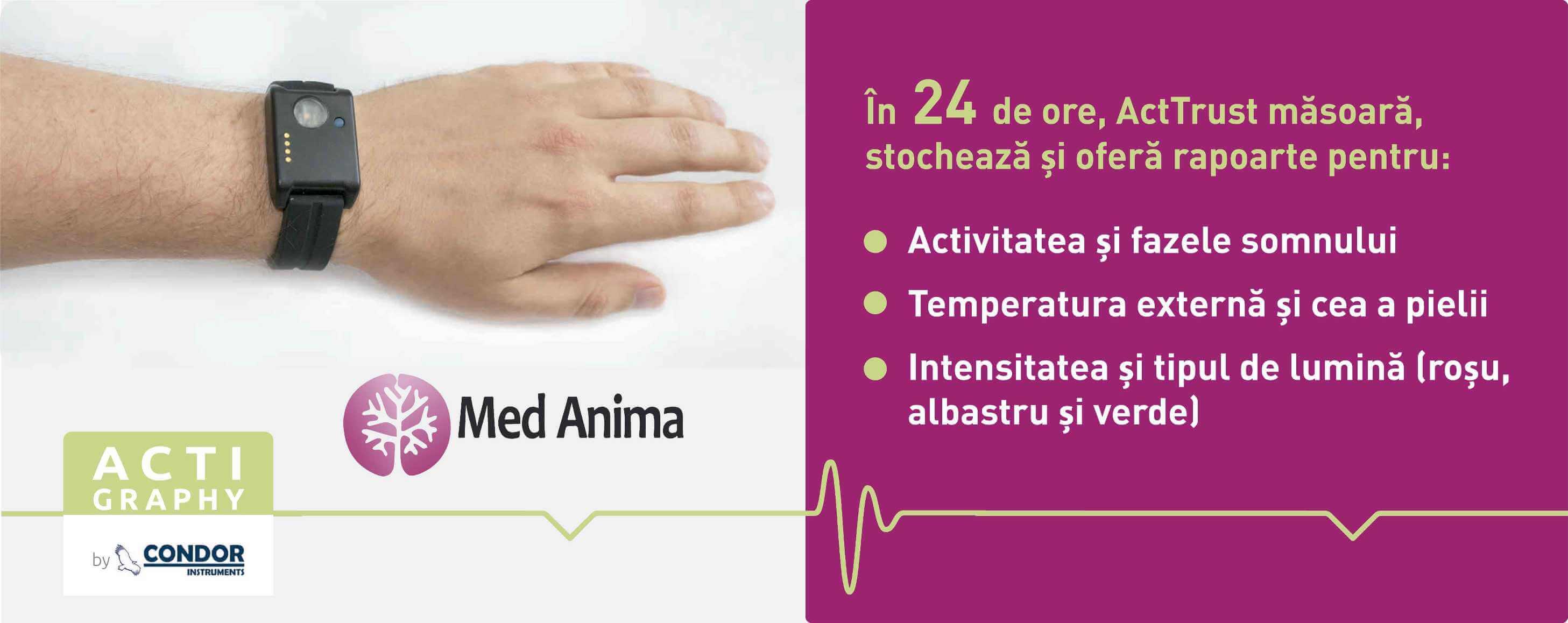 ActTrust dispozitiv monitorizare somn iasi Med Anima
