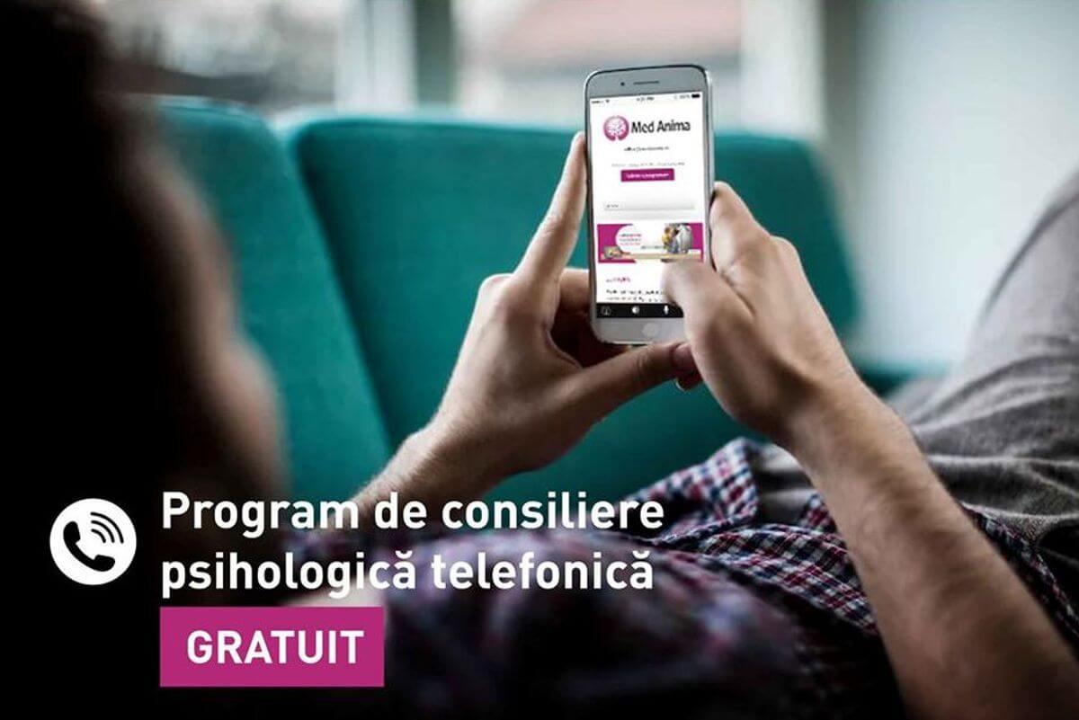 Program de Consiliere Psihologica Telefonică – GRATUIT